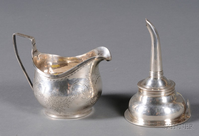 Two Small Georgian Silver Table Articles