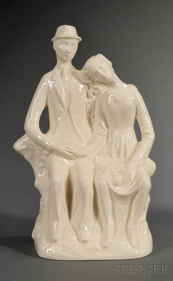 """Wedgwood Queen's Ware """"Country Lovers"""" Group"""