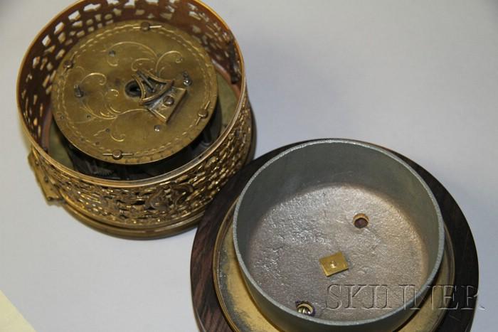 Mahogany Off-Center Pillar and Scroll Clock by Seth Thomas