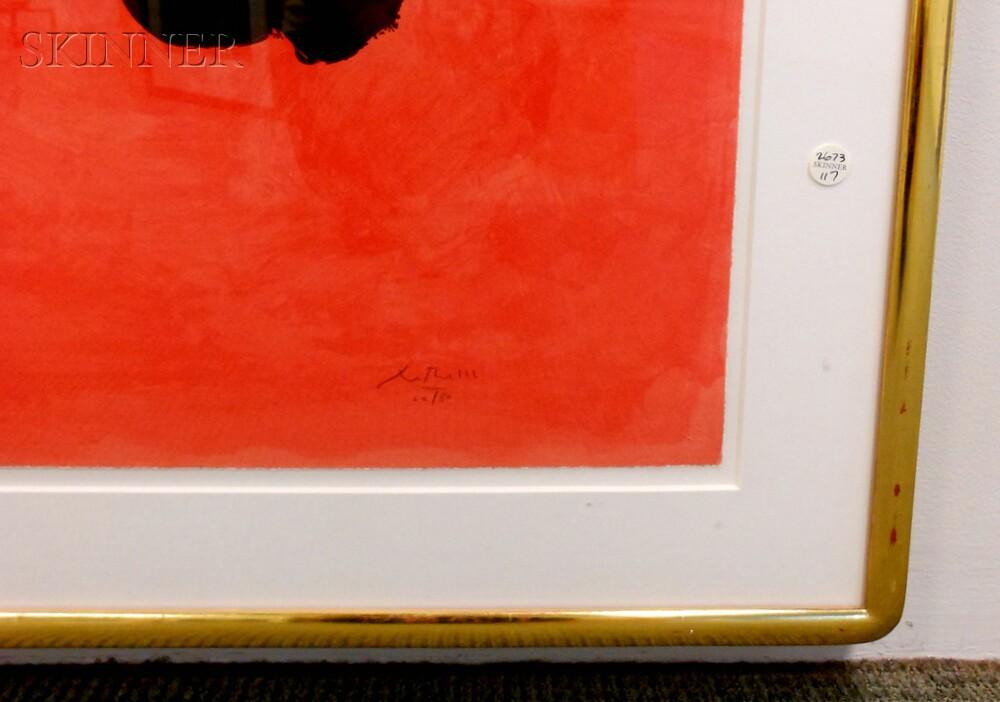 Robert Motherwell (American, 1915-1991)      Three Figures