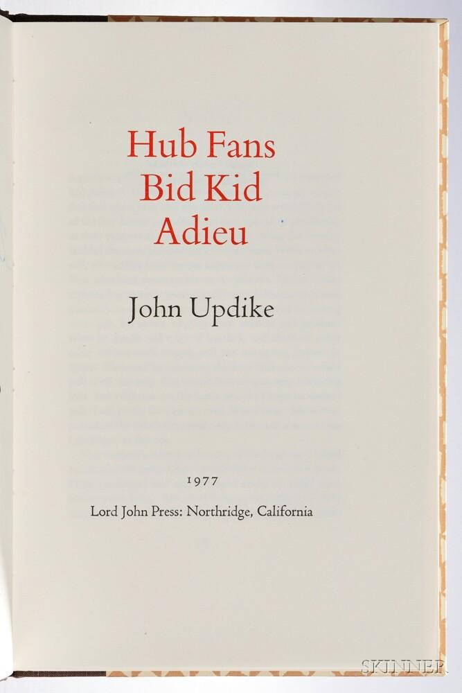 Updike, John (1932-2009) Hub Fans Bid Kid Adieu,   Signed by John Updike and Ted Williams.