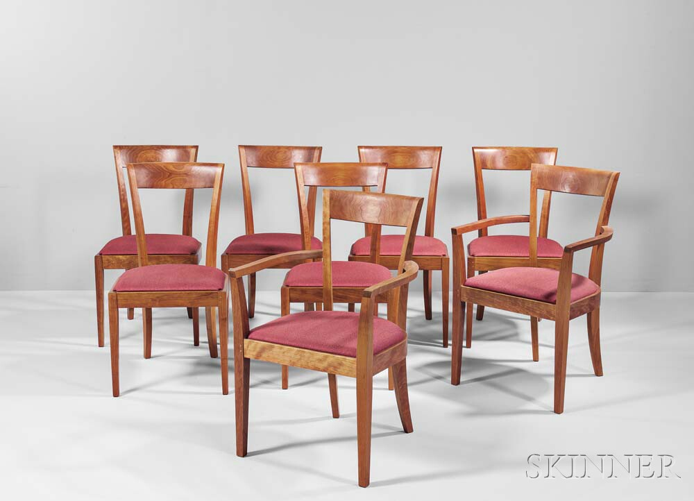 Eight Thomas Moser Harpswell Chairs