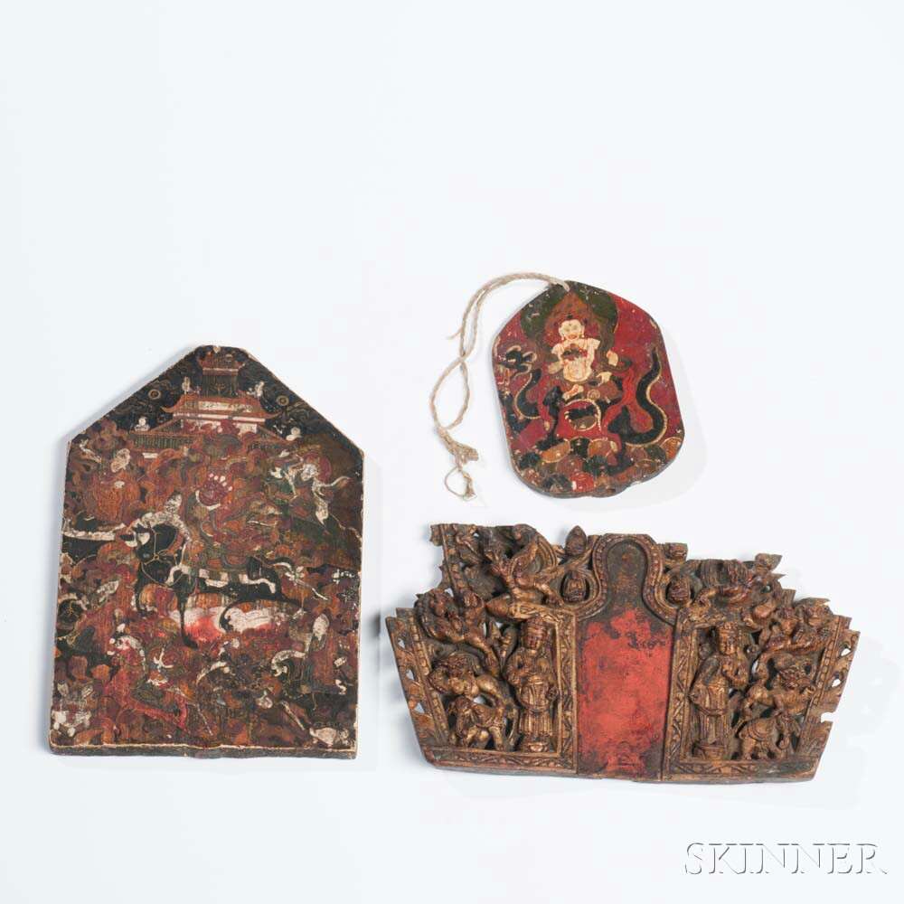 Three Fragments from Portable Shrines