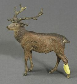 Small Viennese Cold Painted Bronze Figure of a Stag