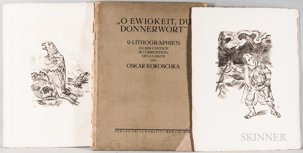 Oskar Kokoschka (Austrian, 1886-1980)      O Ewigkeit, Du Donnerwort   (O Eternity, Thou Word of Thunder)