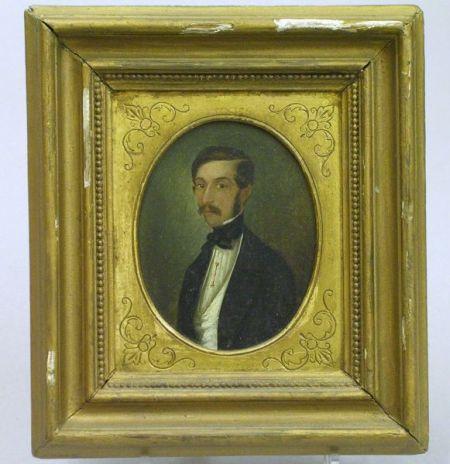 Framed 19th Century Portrait Miniature of a Gentleman