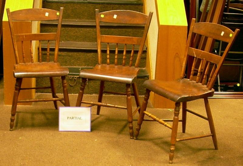 Set of Six Windsor Thumb-back Side Chairs.