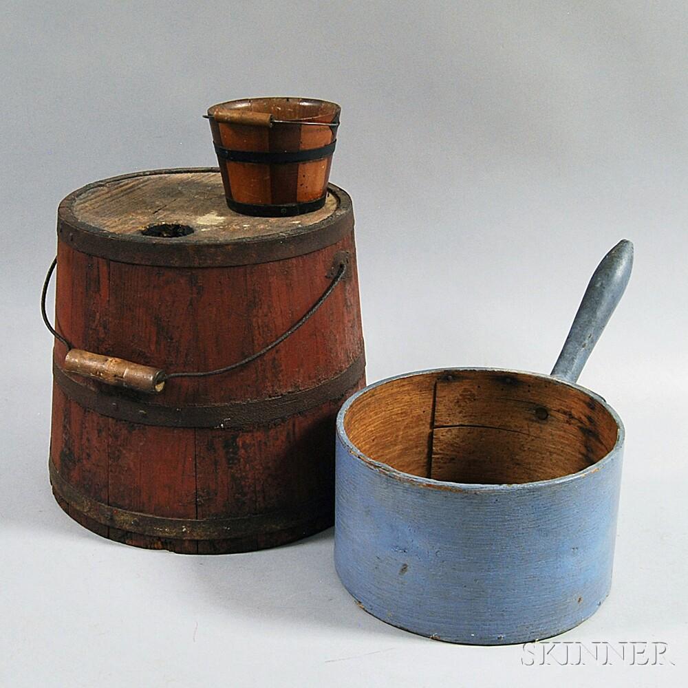 Three Wooden Vessels