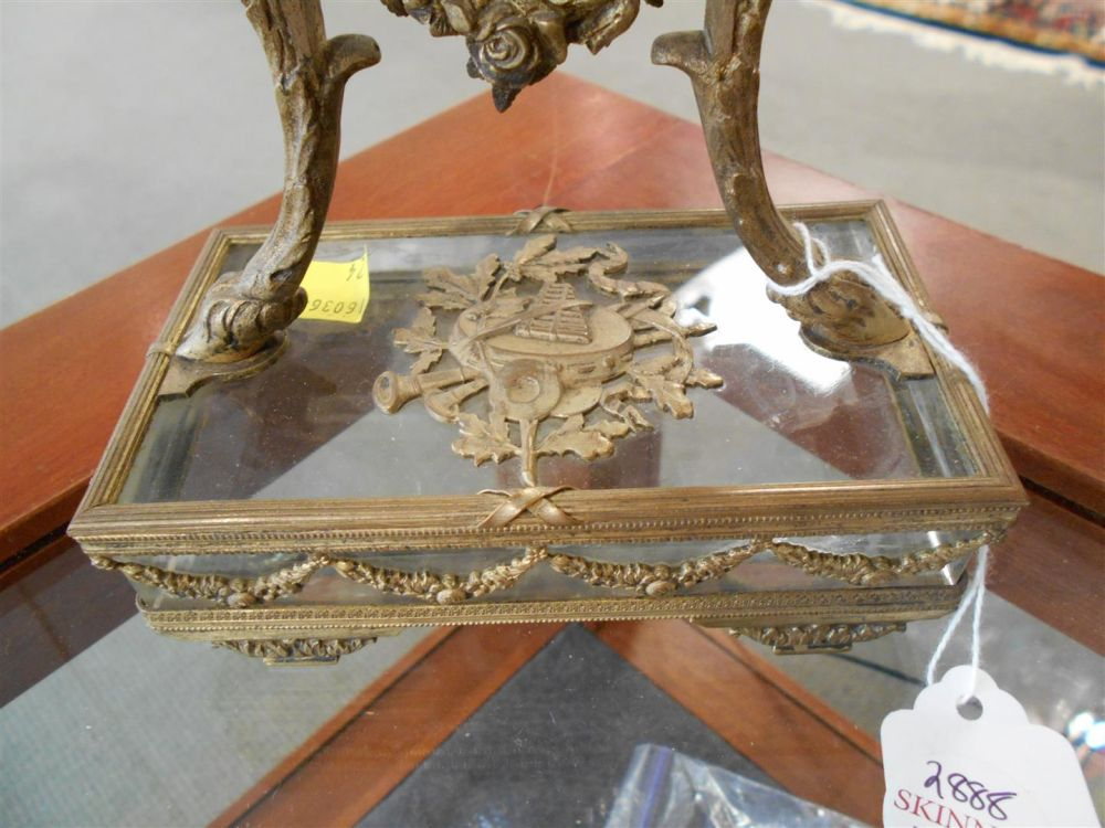Cut Glass and Gilt-metal Mantel Clock