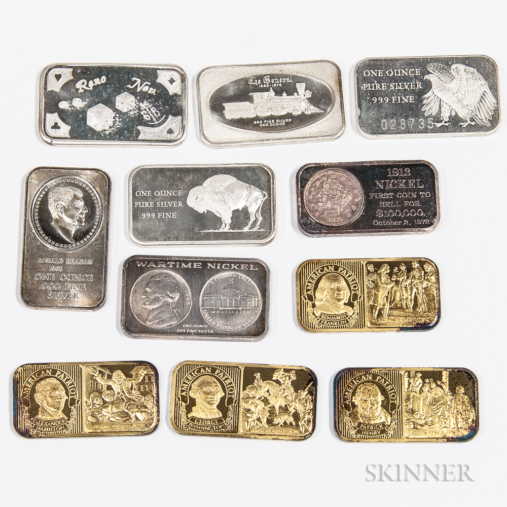 Eleven Silver Art Bars