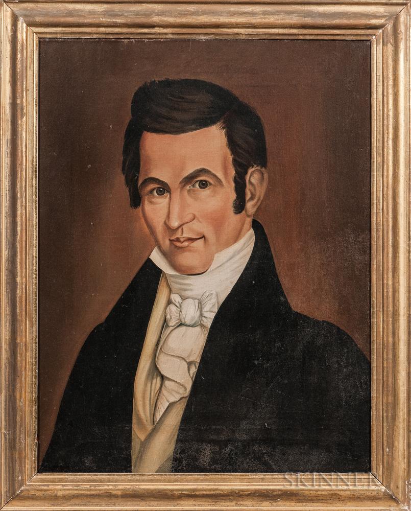 American School, 19th Century      Portrait of a Gentleman