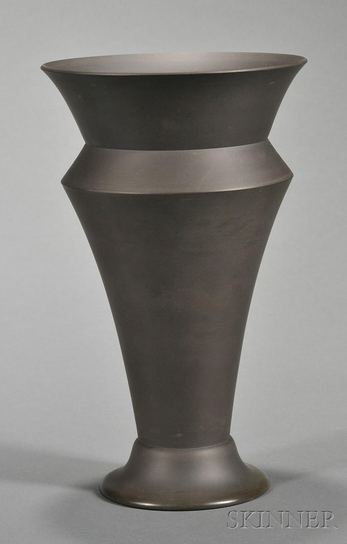 Wedgwood Black Basalt Egyptian Vase