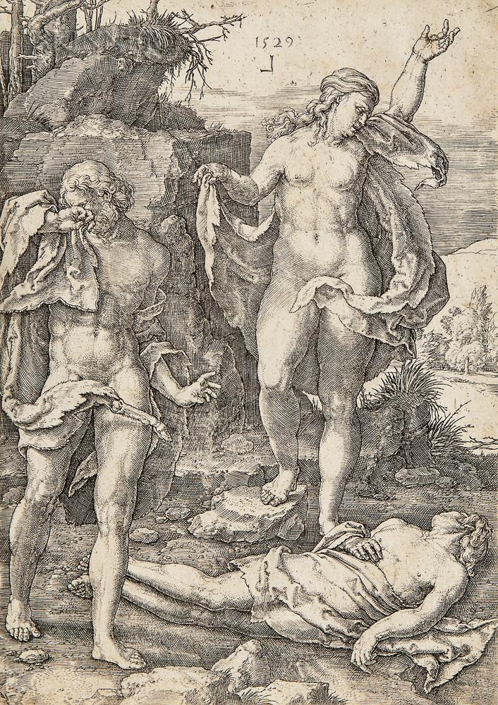 Lucas van Leyden (Dutch, 1494-1533)      Adam and Eve Lamenting the Dead Abel