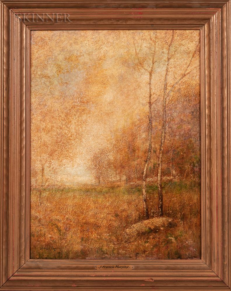 John Francis Murphy (American, 1853-1921)      Autumn Landscape