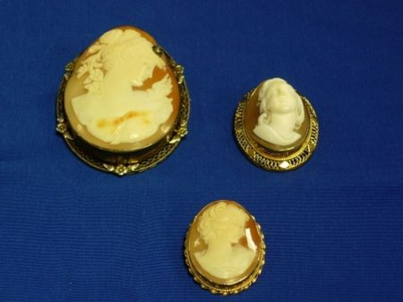 Lot of Three Shell Carved Cameos