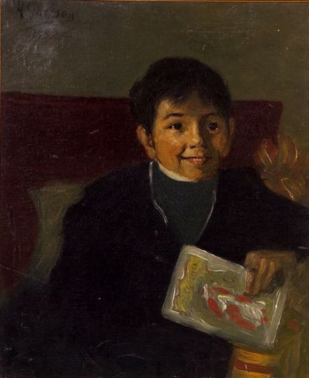Aaron Henry Gorson (American, 1872-1933)    Portrait of a Young Boy
