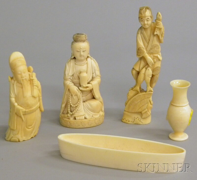 Five Asian Ivory Carvings