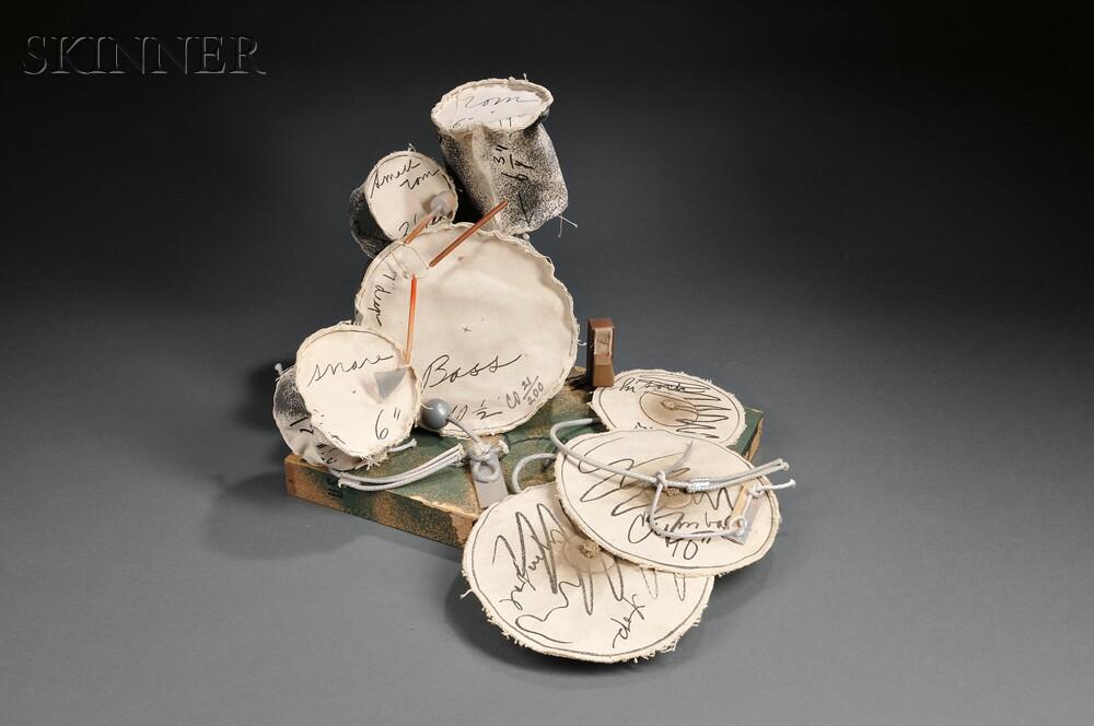 Claes Oldenburg (American, b. 1929)      Miniature Soft Drum Set