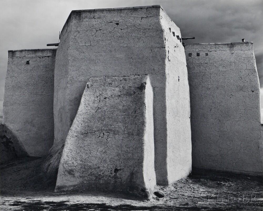 Ansel Adams (American, 1902-1984)      St. Francis Church, Ranchos de Taos, New Mexico