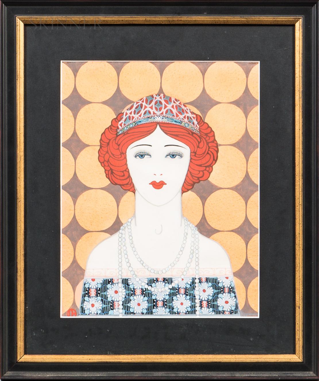 "Dorothy Foster Brown (American, b. 1901)      ""Dottie""/Art Deco Head of a Woman."