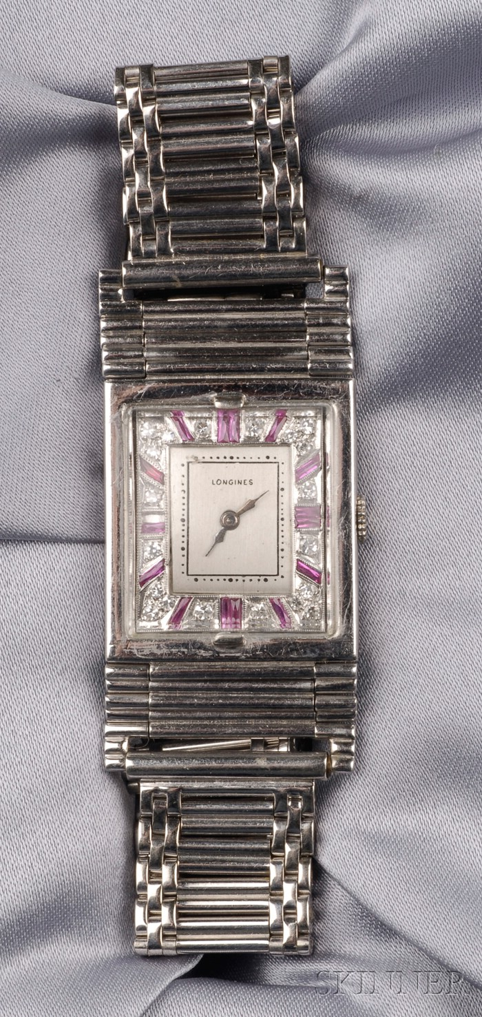 Gem-set Wristwatch, Longines