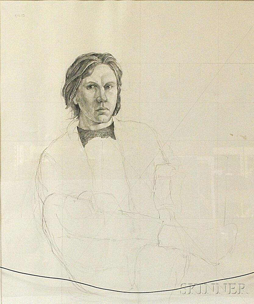 James Aponovich (American, b. 1948)      Double-sided Self-Portrait.