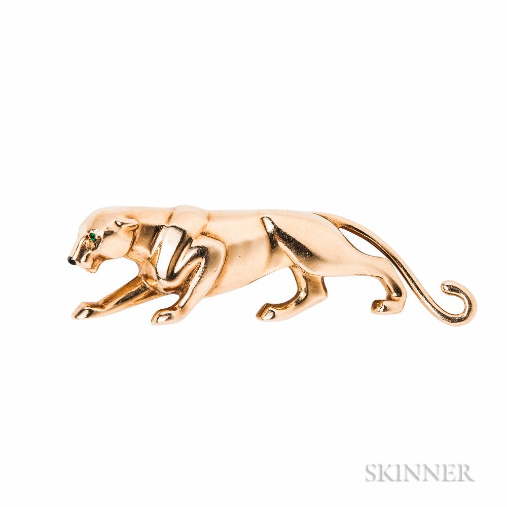 18kt Gold Panther Brooch, Cartier