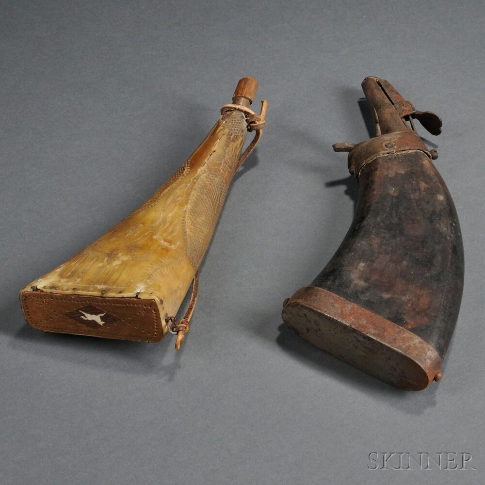 Two Powder Horns
