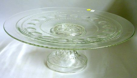 Colorless Pressed Glass Lazy Susan