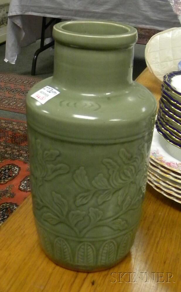 Two Celadon Vases