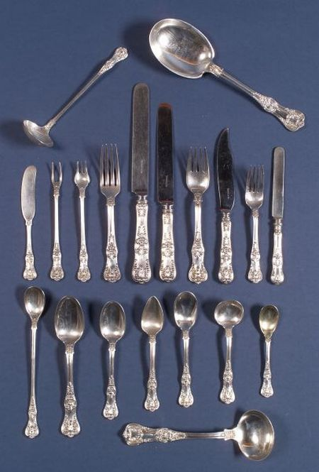 "Tiffany & Co. ""English King"" Sterling Partial Flatware Service"