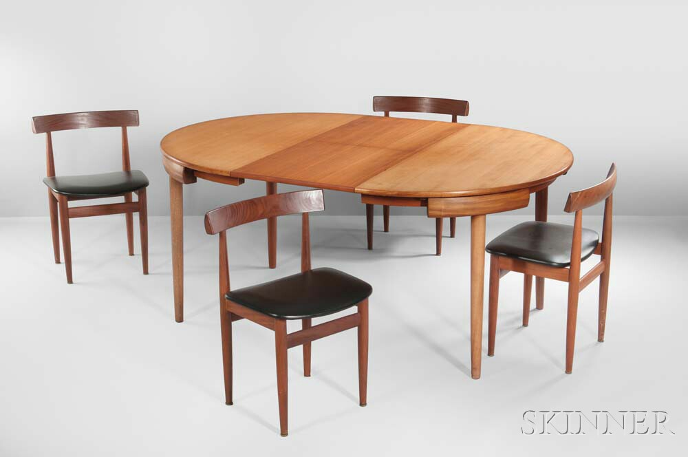 Hans Olsen Table with Four Chairs