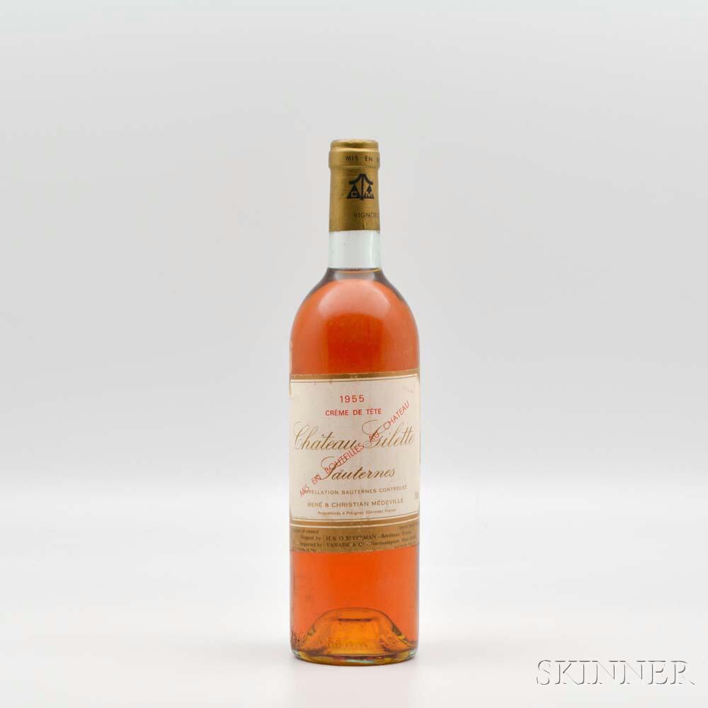 Chateau Gilette Creme de Tete 1955, 1 bottle