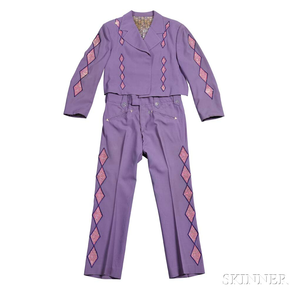 Little Jimmy Dickens     Purple Nudie Suit