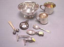 Nine Sterling Silver Items