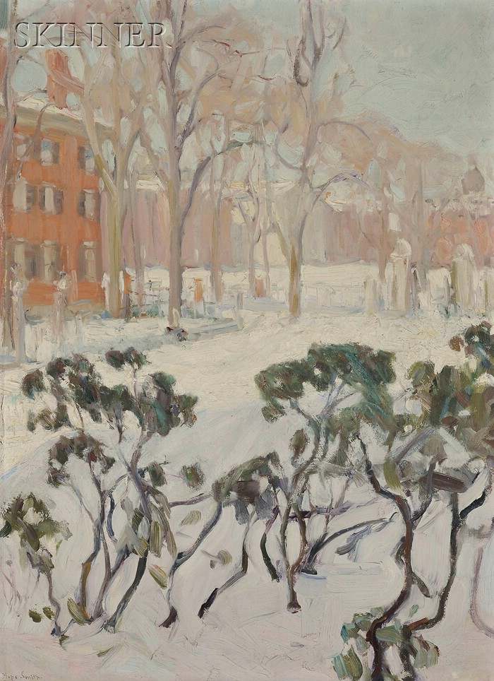 Hope Smith (American, b. 1879)      Providence in Winter/A Rhode Island View