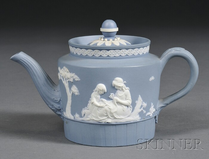 Wedgwood Solid Blue Jasper Teapot and Cover