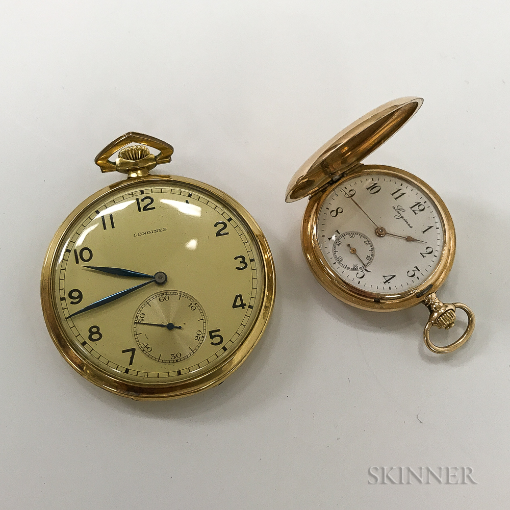 Two Longines Gold Pocket Watches