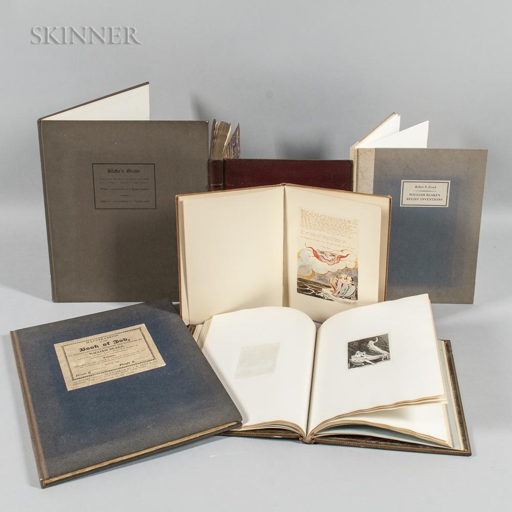 William Blake (British, 1757-1827)      Six Facsimile Books.