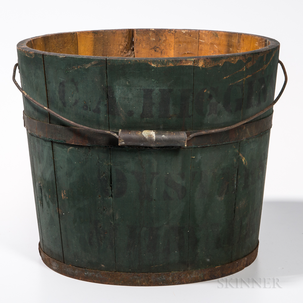 Blue-painted Oyster Bucket