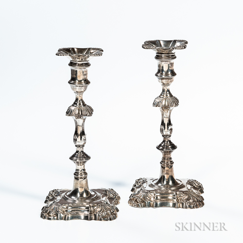 Pair of George III Sterling Silver Candlesticks