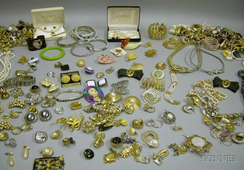 Large Groups of Assorted Vintage to Modern Costume Jewelry