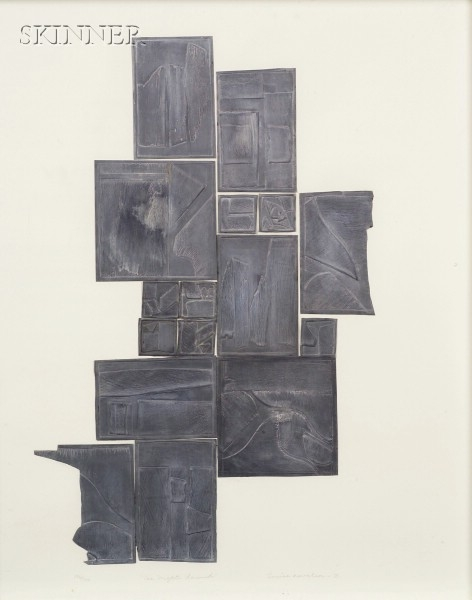 Louise Nevelson (American, 1899-1988)      The Night Sound