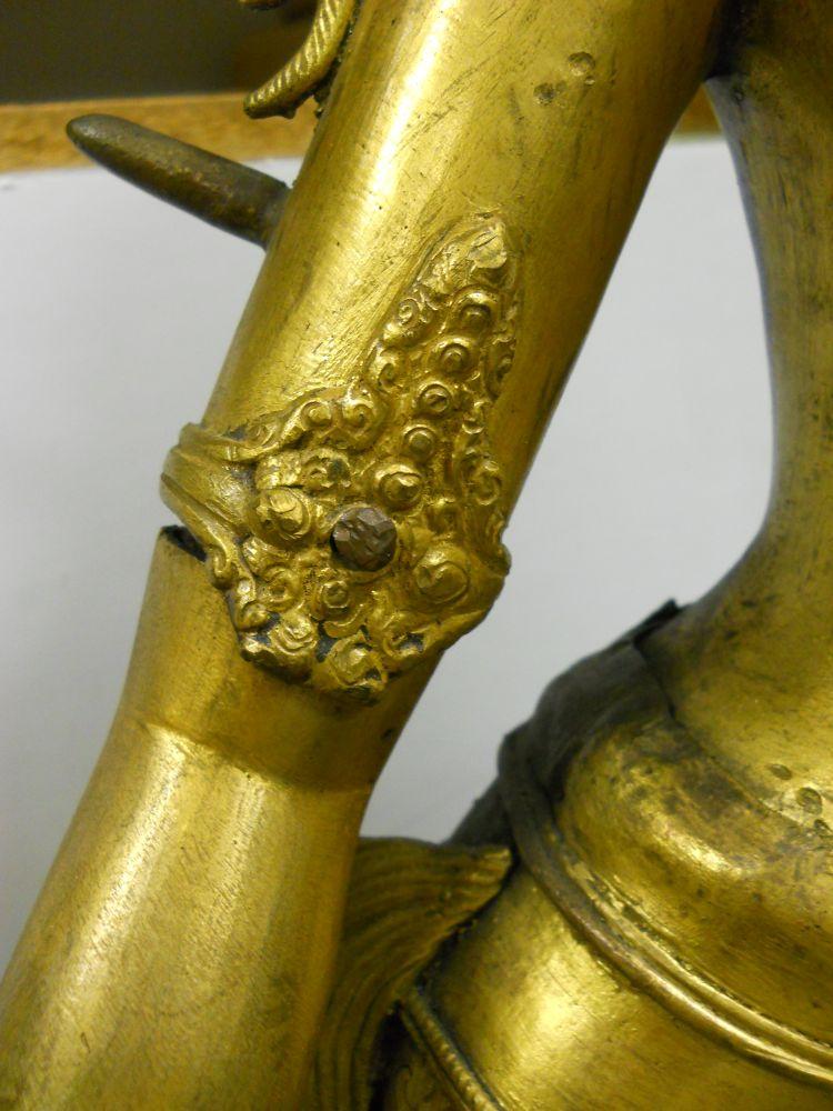 Parcel Gilt-bronze Figure of Standing Tara
