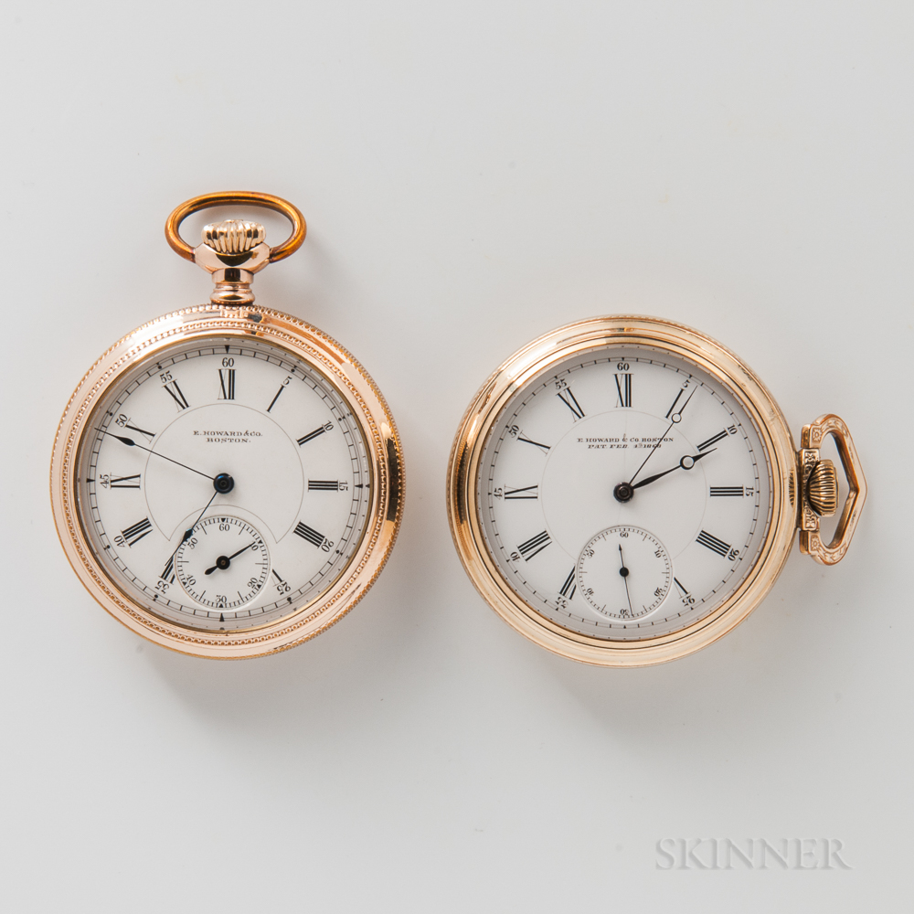 Two E. Howard & Co. Open-face Watches