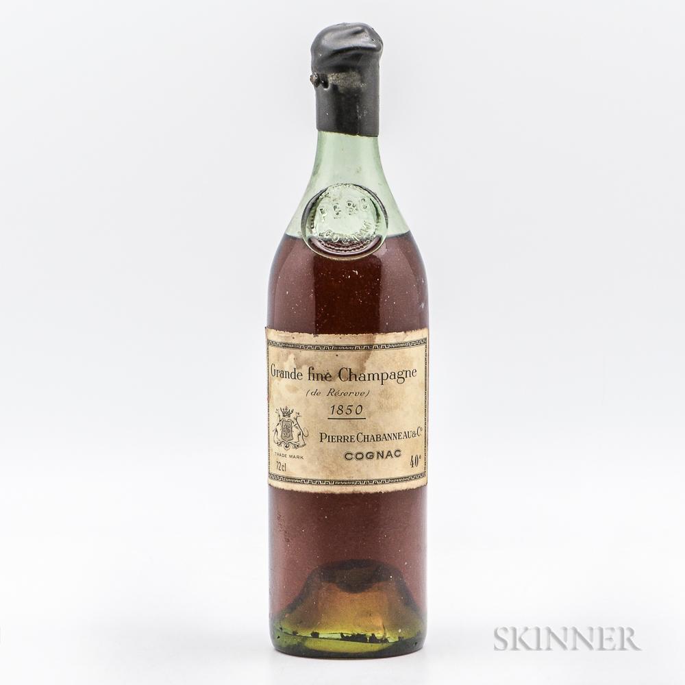 Pierre Chabanneau Cognac Grande Fine Champagne de Reserve 1850, 1 72cl bottle