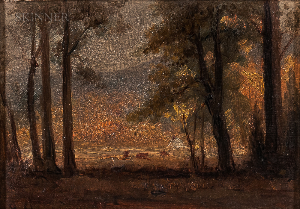 Benjamin Champney (American, 1817-1907)      View Through the Trees
