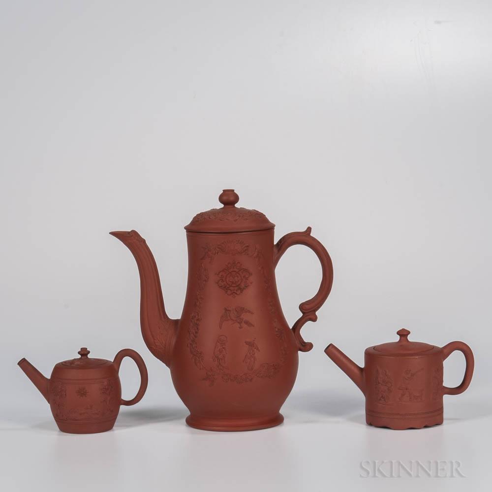 Three Staffordshire Redware Items