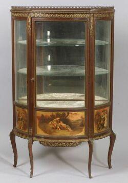 "Louis XV Style Bronze Mounted Kingwood ""Vernis Martin"" Vitrine"