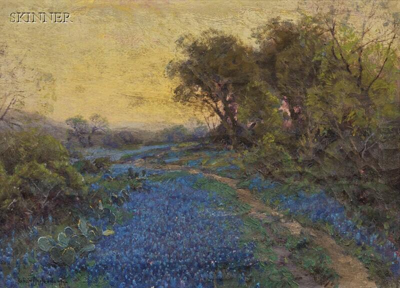 Julian (Robert Julian) Onderdonk (American, 1882-1922)      Blue Bonnets and Cactus